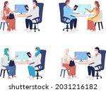 patient visit to medical...   Shutterstock .eps vector #2031216182