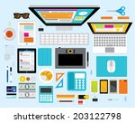 creative vector design elements ... | Shutterstock .eps vector #203122798