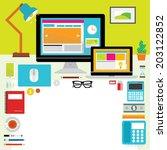 creative vector design elements ... | Shutterstock .eps vector #203122852