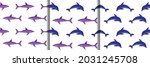 shark and dolphin embroidery... | Shutterstock .eps vector #2031245708