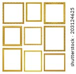 the antique gold frame on the... | Shutterstock . vector #203124625