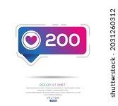 Creative 200 Likes Design For...