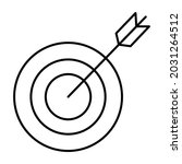 aim outline bold vector icon...   Shutterstock .eps vector #2031264512