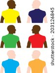 homosexuality and race | Shutterstock .eps vector #203126845