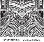 polynesian ornament tattoo... | Shutterstock .eps vector #2031368528