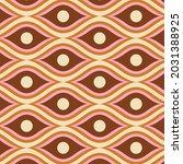 70's retro seamless pattern.... | Shutterstock .eps vector #2031388925