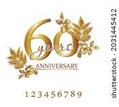 set of anniversary logo in gold ...   Shutterstock .eps vector #2031445412