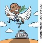 america,barack,branch,caricature,cartoon,character,clouds,conflict,democracy,dove,drawing,east,editorial,elected,emotion