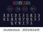 alphabet split monogram  split... | Shutterstock .eps vector #2031461645