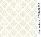 baroque wallpaper. seamless... | Shutterstock .eps vector #2031478532