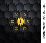 infographic hexagons. vector...