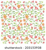 pattern with beautiful  ... | Shutterstock . vector #203153938