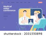 medical video conference  ...   Shutterstock .eps vector #2031550898