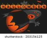 vector with image of moon ... | Shutterstock .eps vector #203156125
