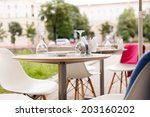street cafe | Shutterstock . vector #203160202