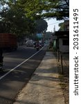 Small photo of Cisarua, Bogor, Indonesia, 08-26-2021: the condition of the cisarua highway after the repeal of the PPKM regulations