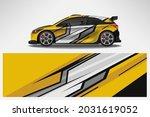 vector car decal wrap design.... | Shutterstock .eps vector #2031619052
