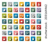 web icon set | Shutterstock .eps vector #203164462