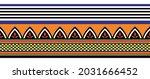 tribal seamless geometrical... | Shutterstock .eps vector #2031666452