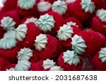 Red candy marshmallows...