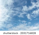 Cirrus Clouds In The Blue Sky...