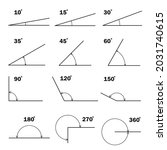 set of different degrees angles....   Shutterstock .eps vector #2031740615