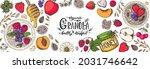 granola ingredients...   Shutterstock .eps vector #2031746642