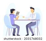 bank office interior design....   Shutterstock .eps vector #2031768032