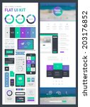 flat ui kit for web and mobile  ...