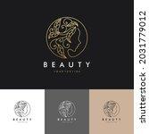 luxury hair beauty salon hair... | Shutterstock .eps vector #2031779012