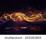 fractal realms series. backdrop ...   Shutterstock . vector #203181802