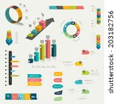 collection of colorful flat and ... | Shutterstock .eps vector #203182756