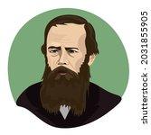 fyodor dostoevsky  russian...   Shutterstock .eps vector #2031855905