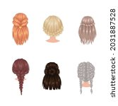 beautiful hairstyle different... | Shutterstock .eps vector #2031887528