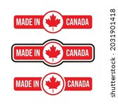 made in canada label  stamp  or ... | Shutterstock .eps vector #2031901418