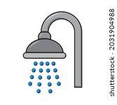 shower icon. bathroom symbol... | Shutterstock .eps vector #2031904988