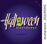 halloween hand lettering   ... | Shutterstock .eps vector #203190592