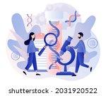 genetic dna science. tiny...