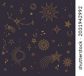 stars  moons and constellations.... | Shutterstock .eps vector #2031942992
