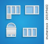 Icons For Windows And Louvers....