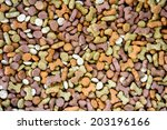 dog food. pet foods background. | Shutterstock . vector #203196166