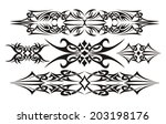 tribal set design vector | Shutterstock .eps vector #203198176