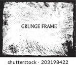 grunge frame | Shutterstock .eps vector #203198422