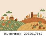 fall scenery autumn landscape...   Shutterstock .eps vector #2032017962
