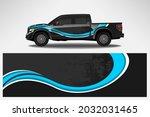 vector car decal wrap design.... | Shutterstock .eps vector #2032031465