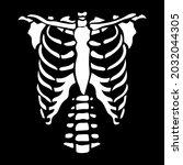 white chest bone. t shirt print ... | Shutterstock .eps vector #2032044305