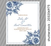 wedding invitation cards with...   Shutterstock . vector #203206975