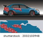 car livery wrap decal  rally... | Shutterstock .eps vector #2032103948