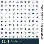 family icons vector set. family ... | Shutterstock .eps vector #203212852