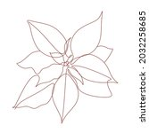 Christmas Poinsettia Line Art...